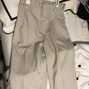 Stripped crop pants with sailor buttons